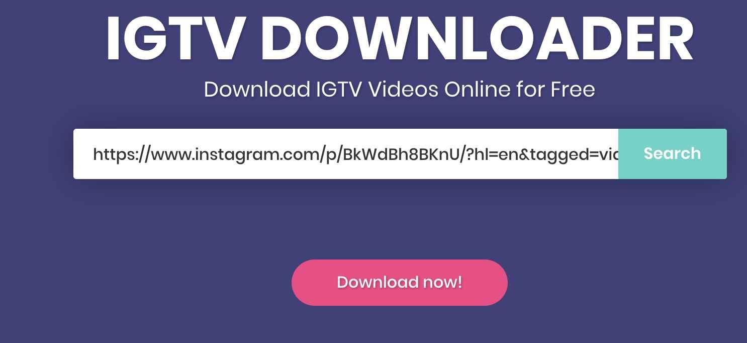 IGTV Video Downloader Online